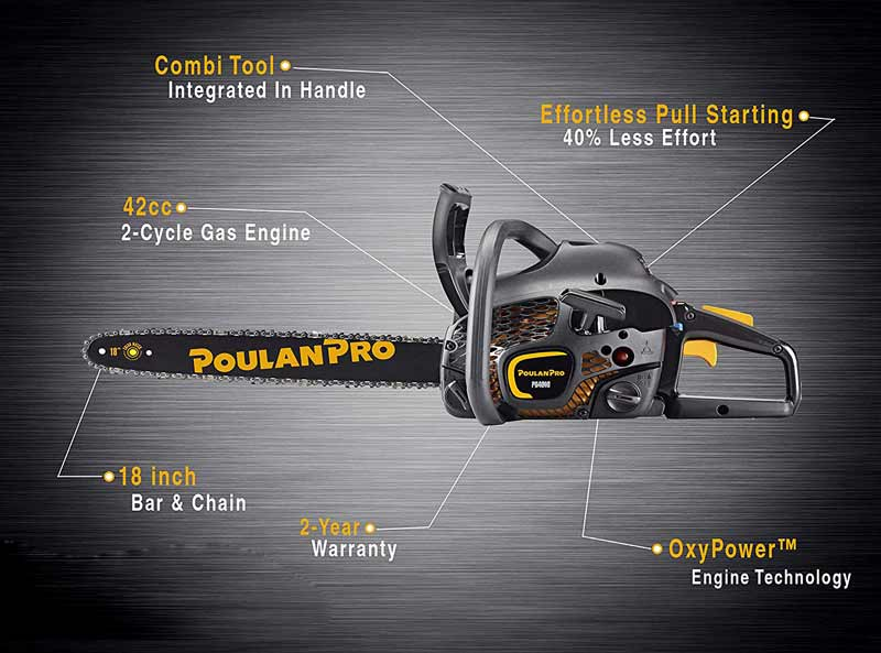 Poulan-Pro-Chainsaw-Features