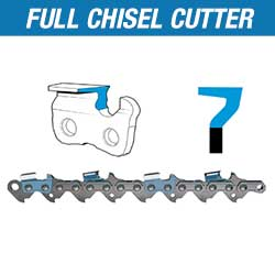 Full chisel chainsaw chain